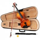 Natural Acoustic Violin Full Size 4/4 + Bow + Case + Rosin