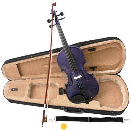Purple Acoustic Violin Full Size 4/4 + Bow + Case + Rosin