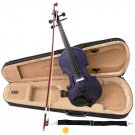 Purple Acoustic Violin Full Size 4/4 + Bow + Case + Rosin