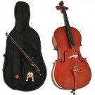 Natural Handmade Cello + Bow + Case + Bridge + Rosin