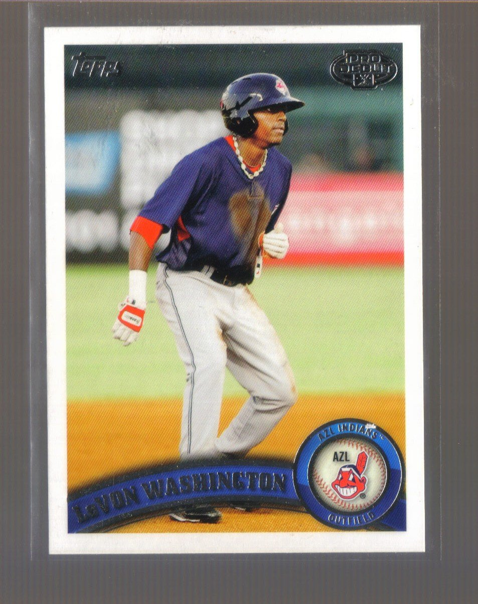 2011 Topps Pro Debut  #54  LeVON WASHINGTON   Indians