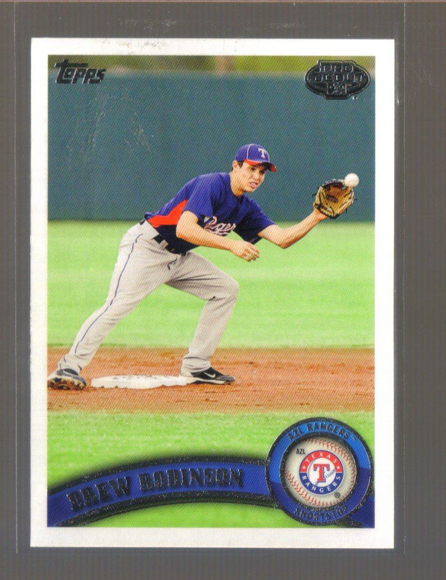 2011 Topps Pro Debut  #223  DREW ROBINSON   Rangers