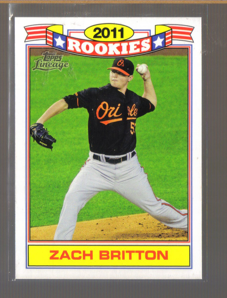2011 Topps Lineage Rookies  #10  ZACH BRITTON   Orioles