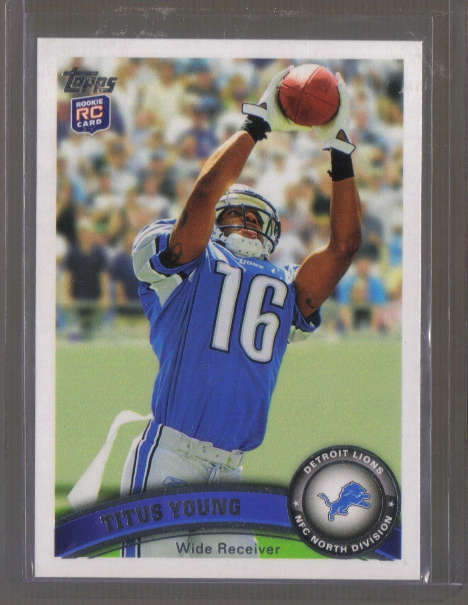 2011 Topps  #19  TITUS YOUNG   RC   Lions