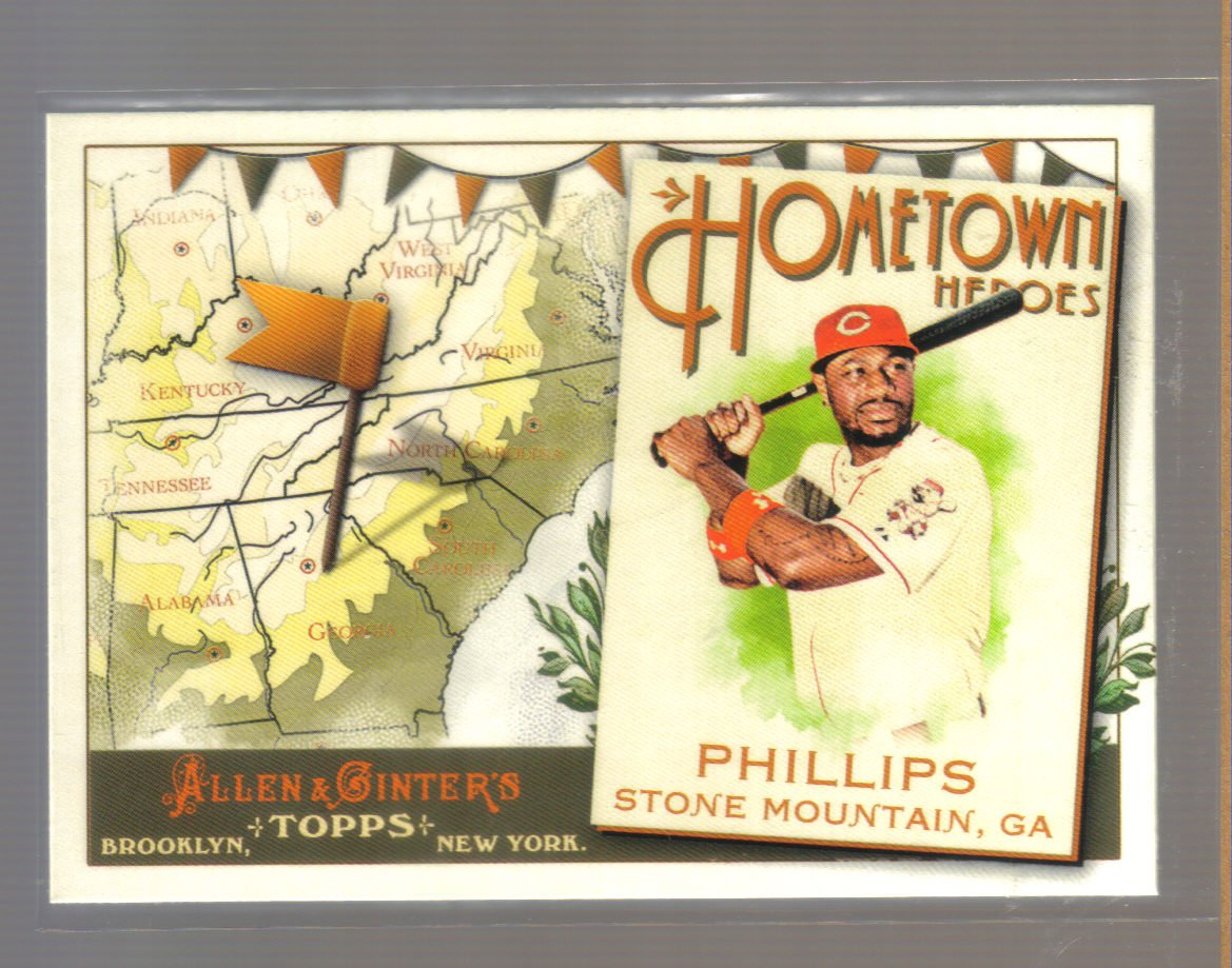 2011 Topps Allen & Ginter Hometown Heroes  #27  BRANDON PHILLIPS   Reds