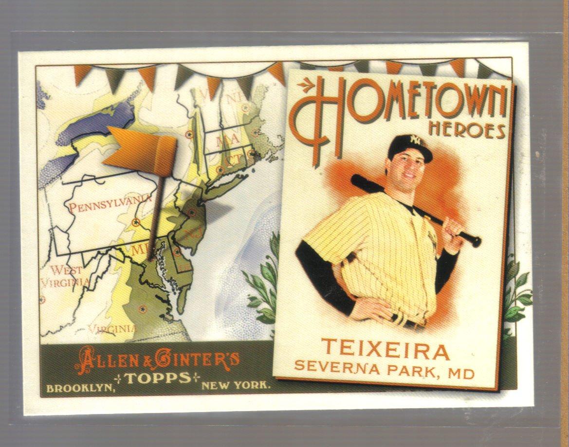 2011 Topps Allen & Ginter Hometown Heroes  #73  MARK TEIXEIRA   Yankees