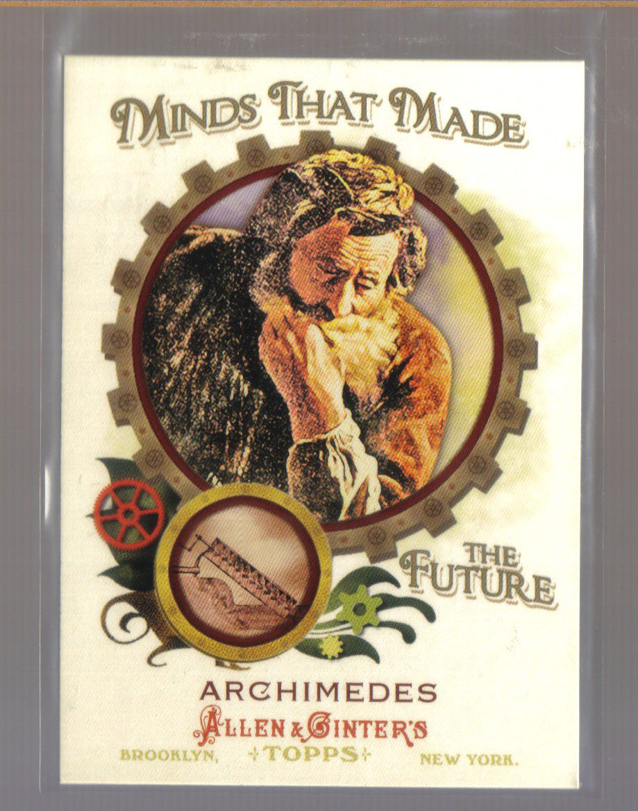 2011 Topps Allen & Ginter Minds That Made The Future  #34  ARCHIMEDES