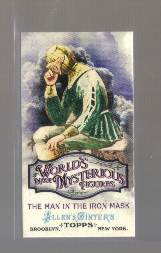 2011 Topps Allen & Ginter Mysterious Figures Mini  #7  MAN IN THE IRON MASK