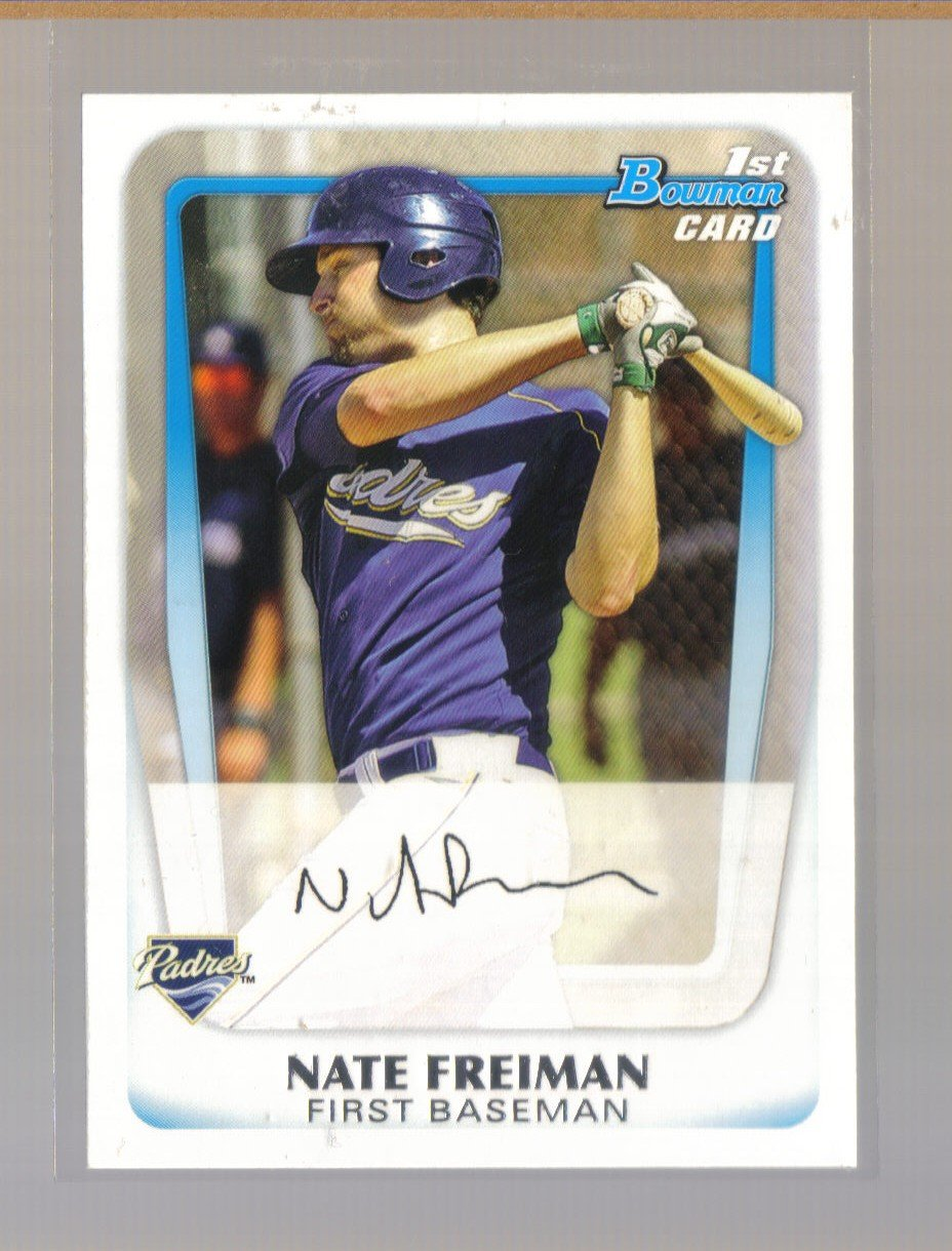2011 Bowman Prospects  #4  NATE FREIMAN   Padres