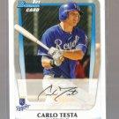2011 Bowman Prospects  #9  CARLO TESTA   Royals
