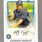 2011 Bowman Prospects  #14 ANTHONY VASQUEZ   Mariners
