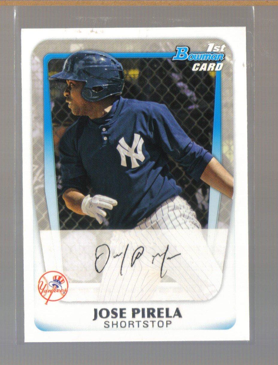 2011 Bowman Prospects  #21  JOSE PIRELA    Yankees