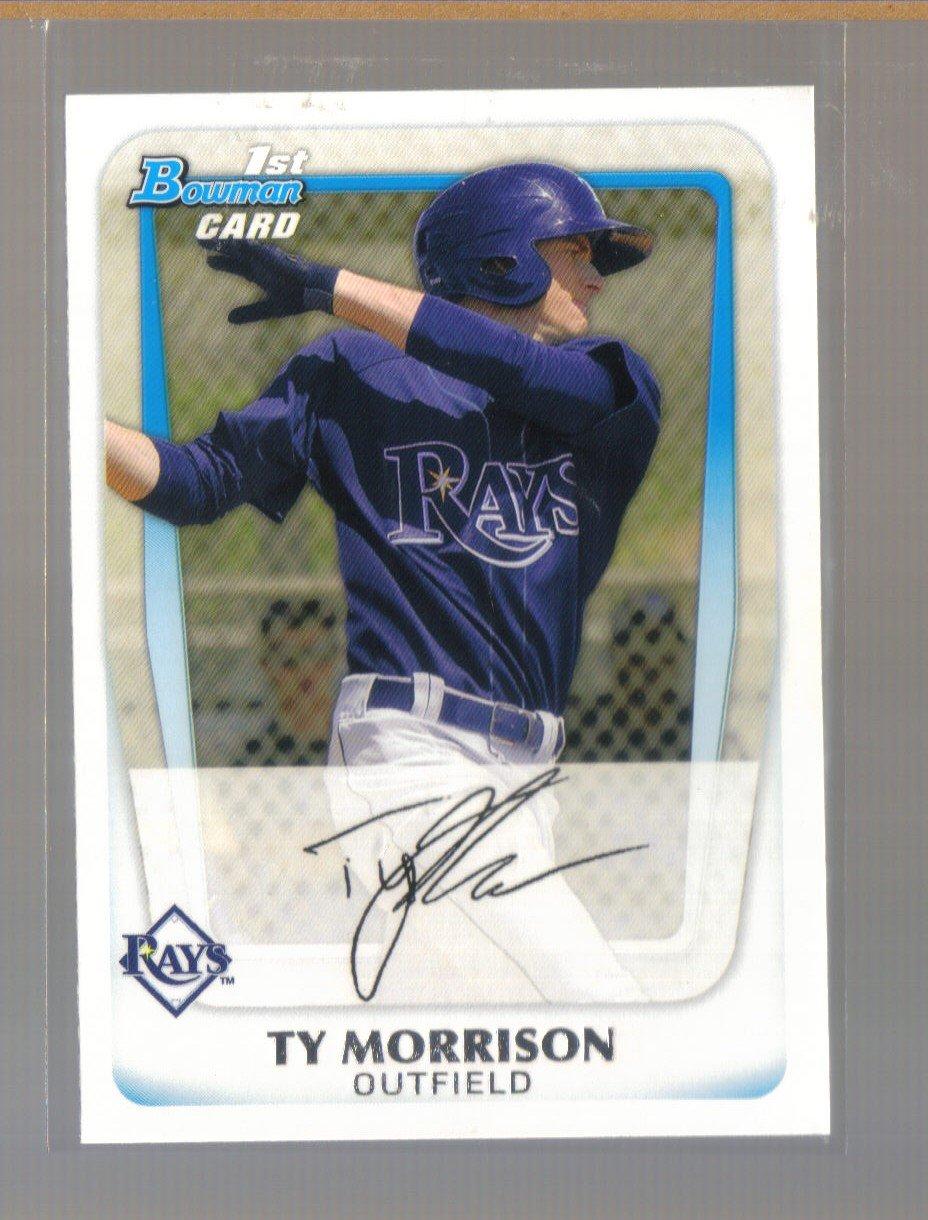 2011 Bowman Prospects  #41  TY MORRISON   Rays