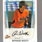 2011 Bowman Prospects  #52  RONNIE WELTY   Orioles