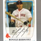 2011 Bowman Prospects  #59  RONALD BERMUDEZ   Red Sox