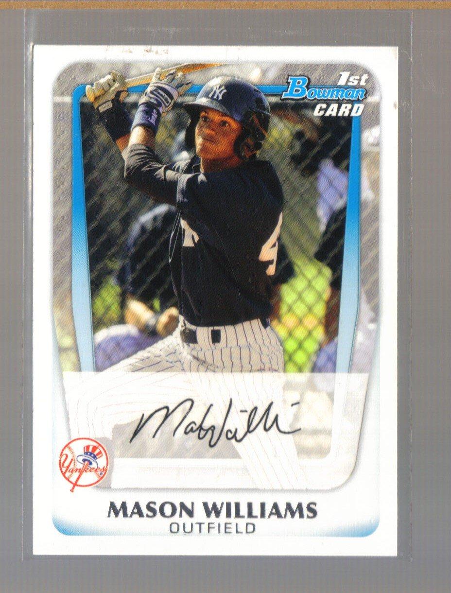 2011 Bowman Prospects  #85  MASON WILLIAMS   Yankees