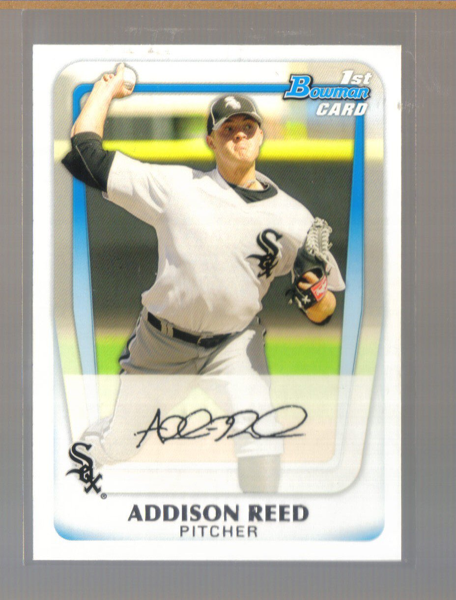 2011 Bowman Prospects  #95  ADDISON REED   White Sox