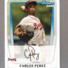 2011 Bowman Prospects  #108  CARLOS PEREZ   Braves