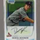 2011 Bowman Prospects Chrome  #40  DERYK HOOKER   Cardinals