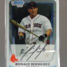 2011 Bowman Prospects Chrome  #59  RONALD BERMUDEZ   Red Sox