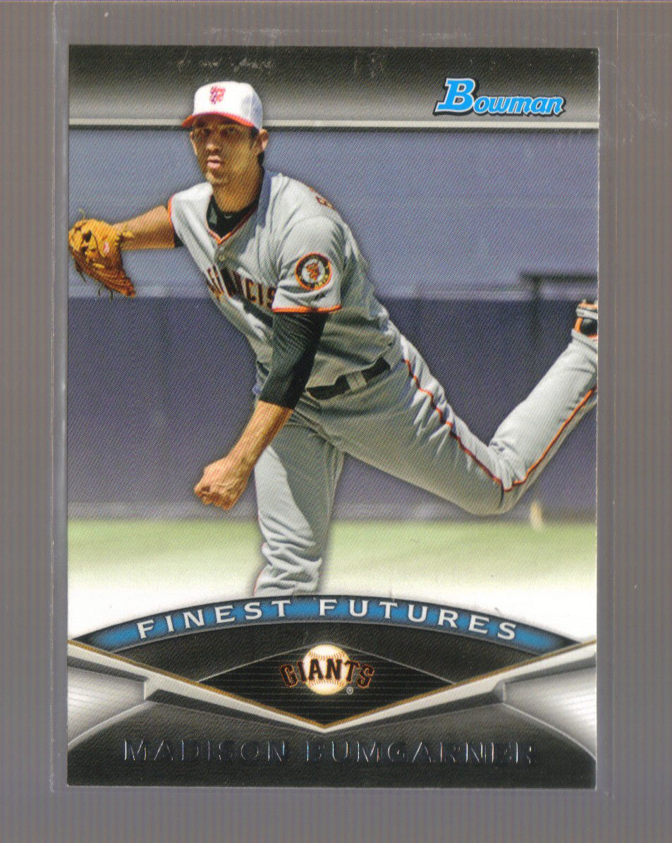 2011 Bowman Finest Futures  #25  MADISON BUMGARNER    Giants