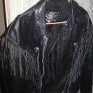 Leather Biker Jacket-size 44