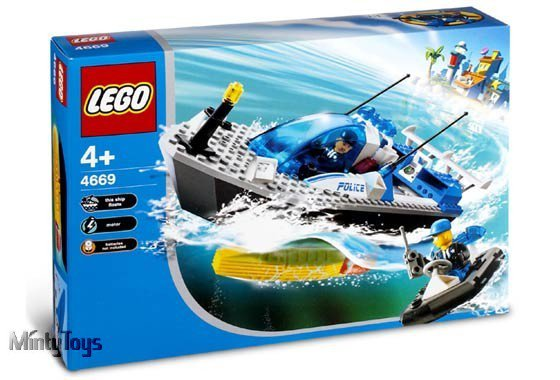 LEGO 4669 4 Juniors Turbo-Charged Police Boat