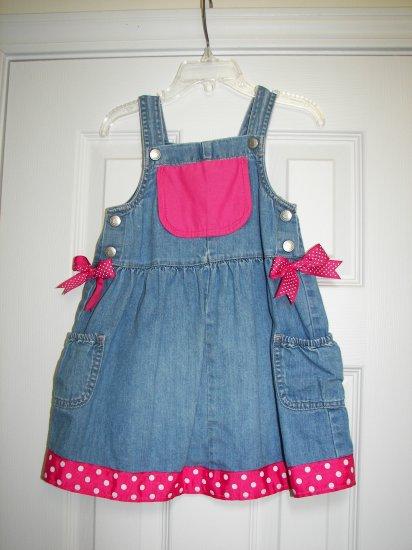 Custom Boutique Denim Dress Sz 3T