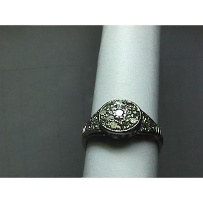 Stunning 1930's Natural Diamond Cluster Ring - Estate Piece