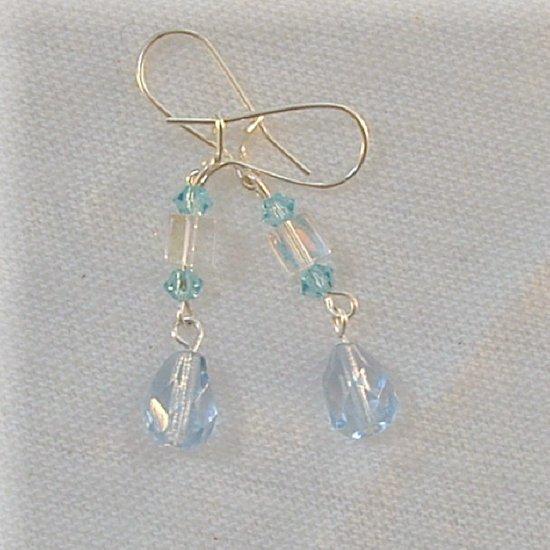 Pale Blue Briolet Earrings