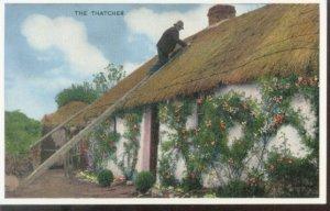 The Thatcher - Irish Country Life Series Postcard