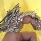 Manual sculpture attractive Tibet silver dragon long nails r