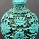 Rare turquoise fish and take snuff box (A30)