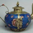 Charming provinicial hand-made porcelain dragon pot (A34)