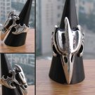 Carving delicate silver eagle charming Tibet ring (B1)