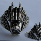 The silver dragon carving exquisite Tibet male ring (B8)