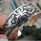 China silver dragon carving BaiShou hidden hand catenary (A110)