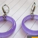 Charming natural purple emerald earrings (B111)