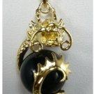 Manual sculpture elegant natural HeiYu necklace pendant (B127)