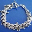 Beautiful magic dragon Tibet charms, silver bracelet (A134)