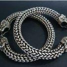 Charming magic dragon charms, silver bracelet (A137)