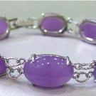 Beautiful and charming oval purple jade bracelet (A139)