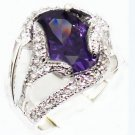 The beauty of the 10 by 14 mm purple gem ring female ring 7 # 8 # 9 # 10 # (J3)