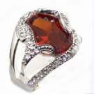 The beauty of the 10 by 14 mm red gem ring female ring 7 # 8 # 9 # 10 # (J4)
