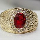 The beauty of the six x8mm oval ruby and diamond ring set with female (J9)