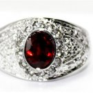 The beauty of the six * 8 mm oval ruby and diamond ring set with female (J10)