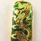 Green jade dragon jewelry necklace pendant + chain
