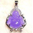 Stunning purple jade Buddha Jewelry Pendant Necklace