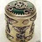 Rare Asian Tibet silver LongYu box