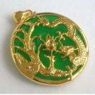 Green jade jade JinLongFeng ChengXiang necklace (P141)